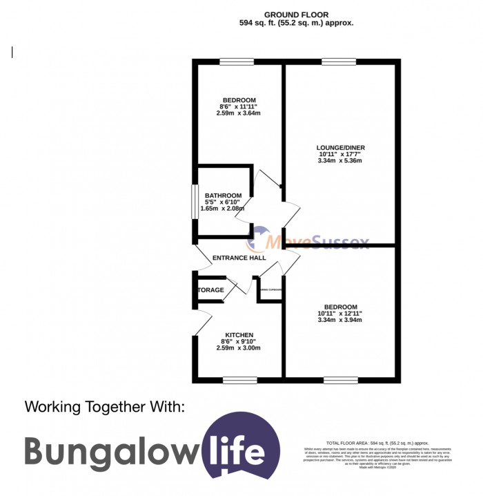 Floorplan for Magnolia Walk, Eastbourne